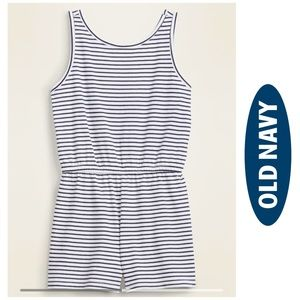 Old Navy Striped Nautical Romper Size 10 12 XL